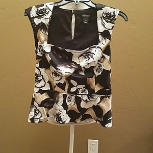 Silky floral top from WHBM